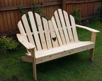 Super comfy Adirondack Love Seat