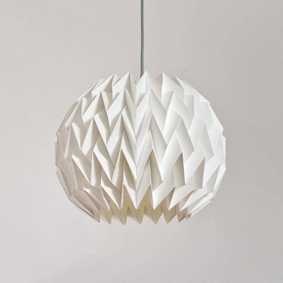 Breeze paper origami lampshade white like this item aloadofball Images