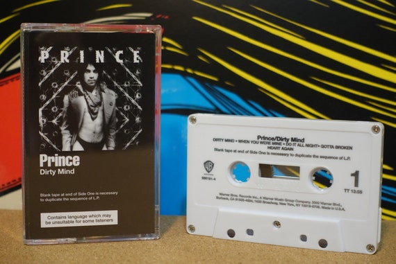 Dirty Mind by Prince (Reissue) Cassette Tape