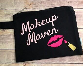 Makeup Maven Zippered Pouch