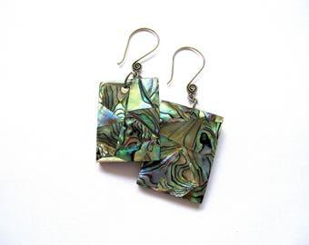 Bali Abalone shell handmade earrings