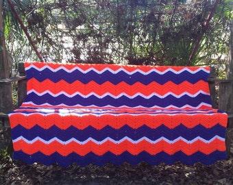 Florida Gator Blanket Handmade Crocheted
