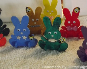 Hand Painted Easter Bunny shapes
