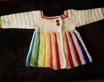 Eloise Baby Sweater - Rainbow 2T-4T