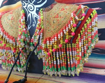 Frida Collar, Shoulder adornment, Mardi Gras caplet, Burning Man Cape
