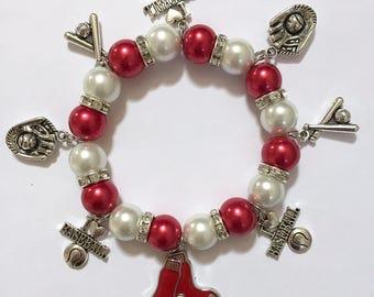 Boston Red Sox 8in charm bracelet