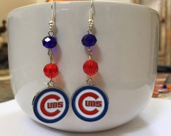 Chicago Cubs Dangle Earrings