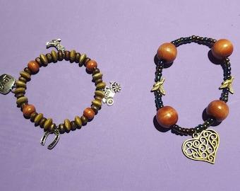 Beaded Charm Bracelets