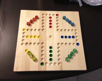 "15"" 4 Player Aggravation Board (Wahoo) with Marbles, dice, and instructions."
