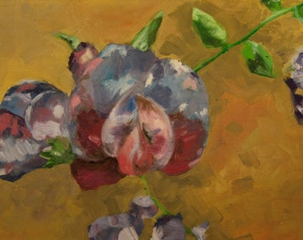 Blue Orchid Oil Painting Print