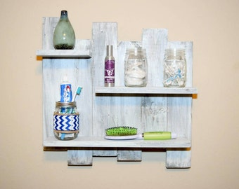 White Washed Shelves Shelf Wash Rustic Pallet Weathered