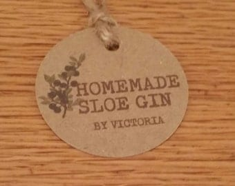 10 Homemade Sloe Gin tags labels winemaking  shabby chic vintage