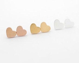 Silver plated Julia earrings heart love jewelry women modern minimalist romantic gift