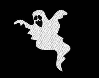 Ghost Machine Embroidery Design, scary ghost embroidery design, halloween ghost design, ghost embroidery pattern, scary embroidery  design