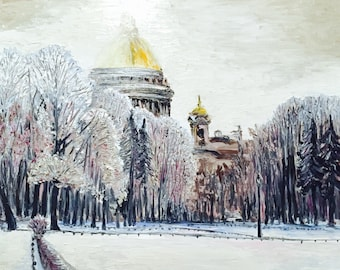 St. Isaac's  Cathedral, Saint Petersburg, Russia , canvas 70 x 60, oil