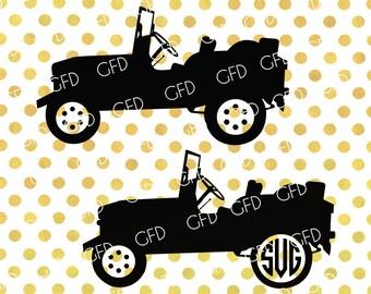 Jeep Monogram Frame SVG, Jeep SVG, Vehicle SVG, Jeep Clipart, Jeep Digital Cutting File, Instant Download, Svg, Dxf, Jpg, Eps, Png