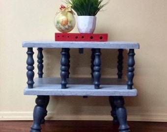 SOLD!Vintage ,Farmhouse ,Shabby Chic ,Cotage  two tiered side table