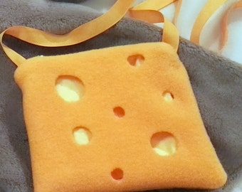 Mouse costume accessories / cheese bag / mouse dress up / Halloween costume