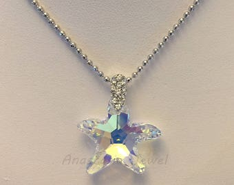Exquisite Handmade Swarovski Crystal Pendant / Necklace
