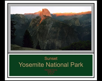Sunset - Yosemite National Park