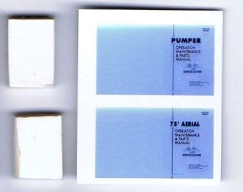 1:25 G scale model American LaFrance fire truck shop service manuals pumper