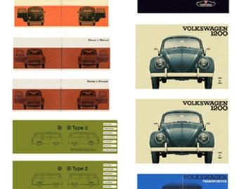 1:25 scale model VW Volkswagen car owner's manuals
