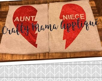 Aunt/Niece heart shirt