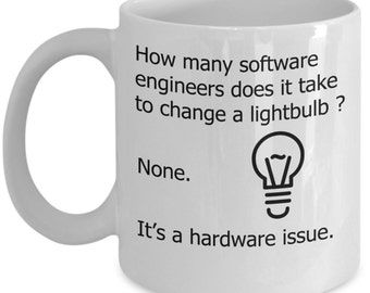 Computer / Software Mugs - How Many Software Engineers - Funny Programming Gift