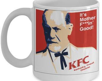 Funny Psychology Mugs - Kentucky Freud Chicken - Ideal Psychologist Gifts