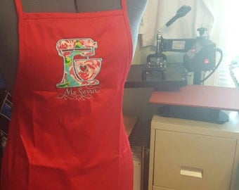 Lilly inspired apron