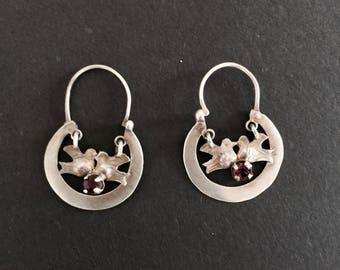 Guatemalan Sterling Silver Love Bird Earrings