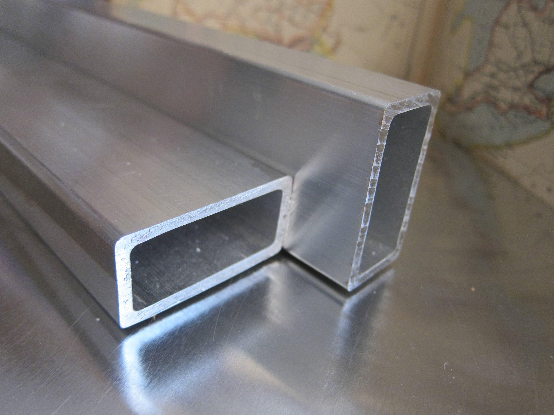 Quot x od wall aluminum rectangular tube round