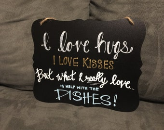 Custom Handpainted Sign, Small Chalkboard Sign, Custom Signwork