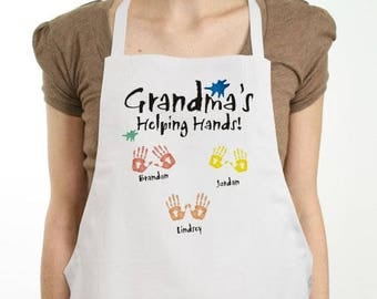 Personalized Helping Hands Personalized Apron Custom Name Gift