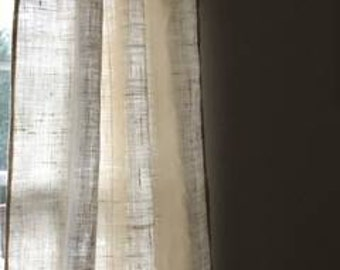 Summer Sale 20 OffWhite Burlap Curtains Livingroom Curtainsbedroom