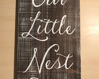 our nest sign our nest family sign cute sayings fixer upper decor farmhouse decor custom signs wooden signs rustic home decor signs - Custom Signs For Home Decor
