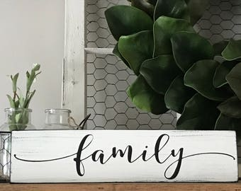 Family sign, Family sign wood, Gallery wall art, Gallery wall decor, Farmhouse decor, Rustic signs, Wooden signs, Rustic wall decor