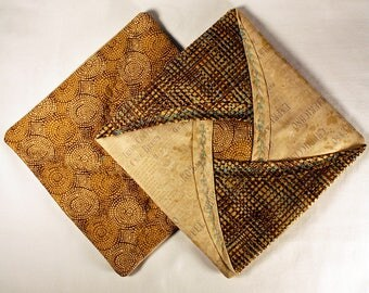 Quilted Pot Holders - Brown
