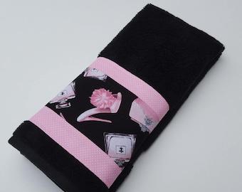 Pink And Black Diva Towels, Diva Bathroom Decor, Diva Bathroom, Girls Towels ,