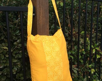 Yellow Lined Market Bag