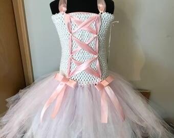 Pink Ballerina Corset Tutu Dress 4T -  6Y