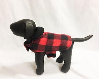 Red/Black Plaid 2 Dog Coat 1007