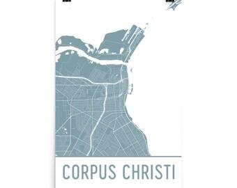 Corpus Christi Map, Corpus Christi Art, Corpus Christi Print, Corpus Christi TX Poster, Corpus Christi Wall Art, Map of Corpus Christi, Gift