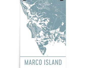 Marco Island Map, Marco Island Art, Marco Island Print, Marco Island FL Poster, Marco Island Wall Art, Map of Marco, Marco Island Decor