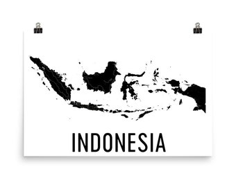 Indonesia Map, Map of Indonesia, Indonesia Art, Indonesia Decor, Indonesian Art, Indonesia Print, Indonesia Poster, Indonesia Wall Art Gifts