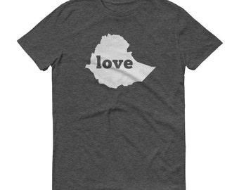 Ethiopia, Ethiopian Clothing, Ethiopia Shirt, Ethiopian T Shirt, Ethiopia TShirt, Ethiopia Map, Ethiopia Gifts, Made in Ethiopia, Love Shirt