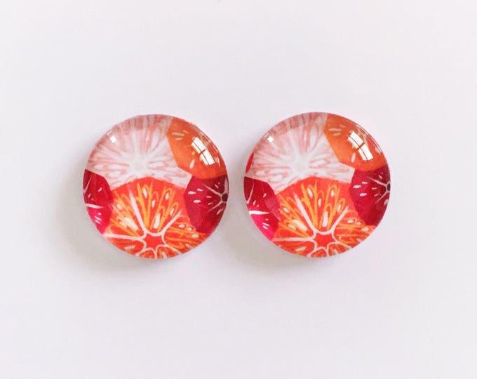 The 'Tangerine' Glass Earring Studs