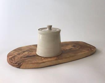 Ceramic Mustard pot  handmade UK shops