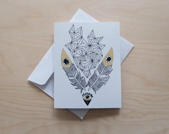 Marigold Eyes Illustrated Greeting Card