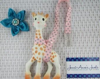 Sophie the Giraffe Leash/Toy Saver - Spots